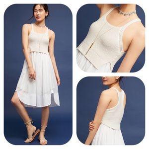 Anthropologie Maeve Cream Varadero Dress